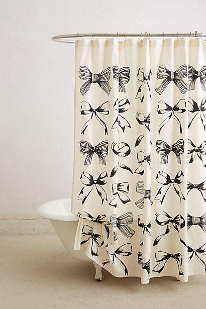 bow-tie shower curtain / anthropologie