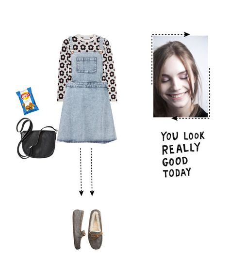 """untitled"" by aisyh93 ❤ liked on Polyvore featuring J.W. Anderson, Topshop, UGG Australia and Merona"
