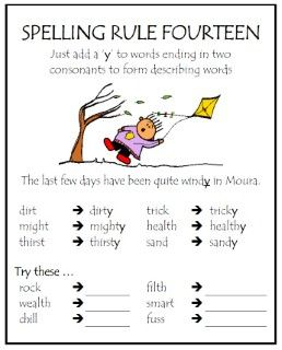 Spelling Rule 14 Spelling Lessons Spelling Rules English Spelling Rules