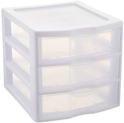 Sterilite Clearview 3 Storage Drawer Organizer Plastic Storage Drawers Storage Drawers Drawer Storage Unit