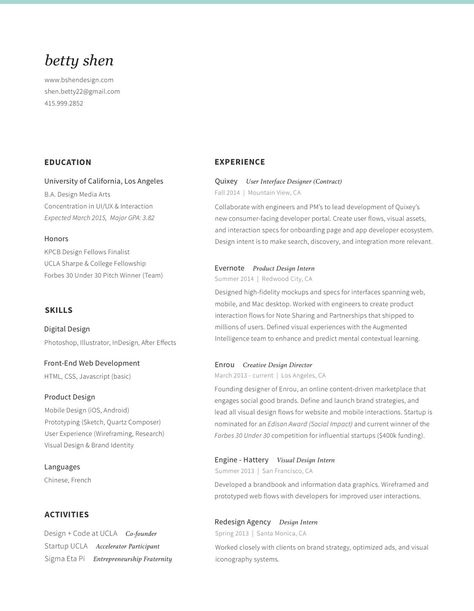 Resume by Cedric Ith UI Personal Branding Pinterest Personal