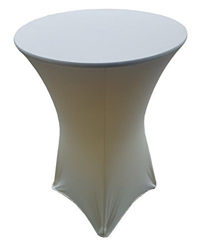 30 Round X 42 Height Ivory Spandex Highboy Table Cover B Https