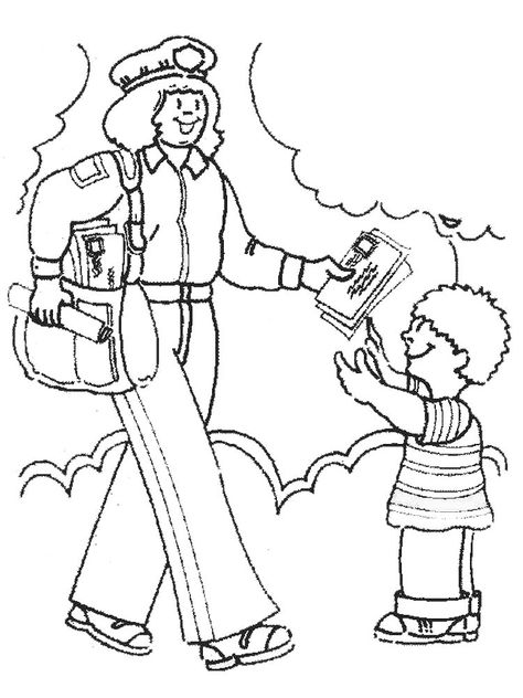 Community Helper Coloring Page We Must Know The Police Postmen Firefighters Soldiers Do Community Helpers Preschool Community Helpers Super Coloring Pages