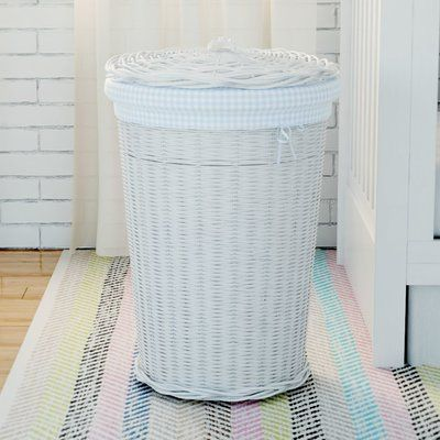 Viv Rae Jordyn Laundry Hamper Liner Color Navy Gingham In 2019