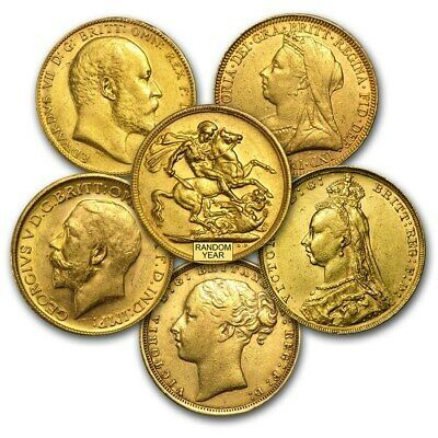 Details about British Gold Sovereign Great Britain Average Circ (AGW .02354  oz) Random Date | Gold sovereign, Buy gold and silver, Gold coins