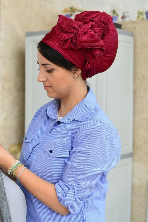 Lavender Cotton Headscarf Womens Chemo Ultra Soft Oblong Tichel Head Scarf