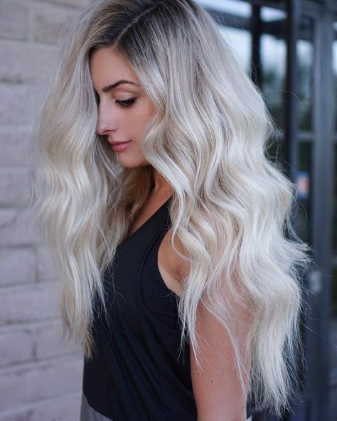 """1,043 Likes, 15 Comments - CITIES BEST HAIR ARTISTS 🏙 (@citiesbesthairartists) on Instagram: """"Shadow Root, Perfect Blonde By @hairby_chrissy using @habit.hand.tied.extensions ❄️🗡"""""""