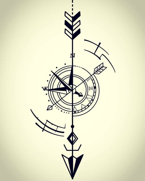 #digitaldrawing #procreate #noobdrawing #tattoo #tattoodesign #arrowdial #arrow #arrowcompass