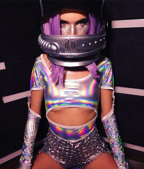 Fièvre Catsuit Body Femmes Festival Disco Rave 70 s Fancy Dress Outfit Carniva