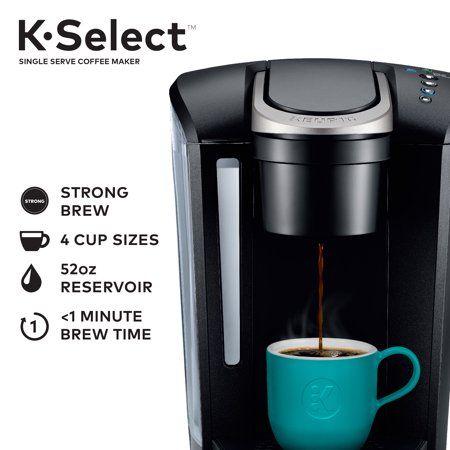 Keurig K Select Single Serve K Cup Pod Coffee Maker Matte Black Walmart Com Keurig Coffee Makers Pod Coffee Makers Single Cup Coffee Maker