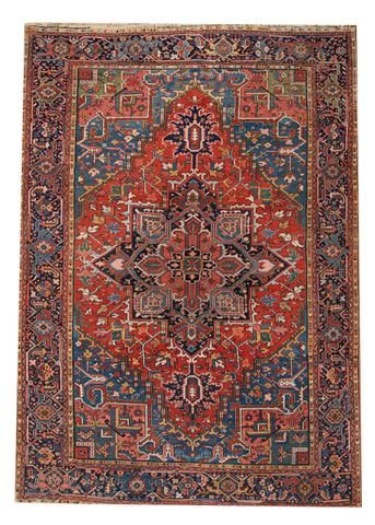 Early 20th Century Antique Heriz Persian Wool Rug 8 X 12 In 2020 Antique Heriz Rug Heriz Rugs Rugs On Carpet