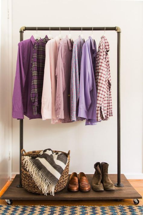 Running Out Of Space Make A Mobile Clothing Rack And Keep