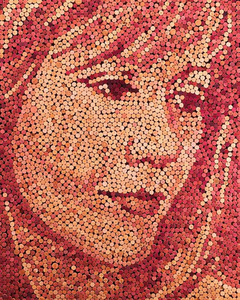 Amazing Wine Cork Portraits by Scott Gundersen!Ever wonder where do the corks go after they've been popped off the wine bottle? Well, some of them might have ended up in one of Scott Gundersen's masterpieces! Have a look!