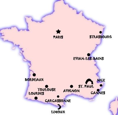France Cities Map Major Cities Of France France Just Created 10