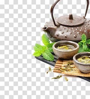Teapot Beside Two Bowls Green Tea Oolong Flowering Tea Bubble Tea Tea Tea Transparent Background Png Clipart Bubble Tea Tea Pots Green Tea Coffee