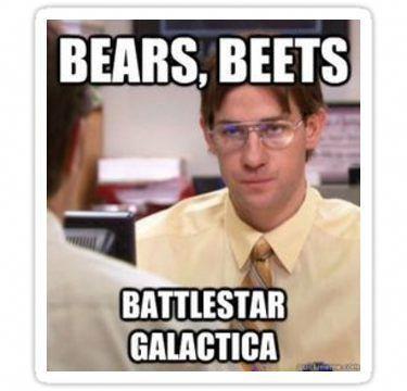 Bears Beets Battlestar Galactica Sticker Groomspeechexamples Just For Laughs Office Quotes Jim Halpert