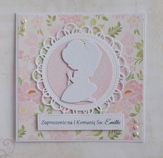 Kartka Zaproszenie Na I Komunie Sw A Card Invitation For A First Communion Cute Cards Invitations Cards