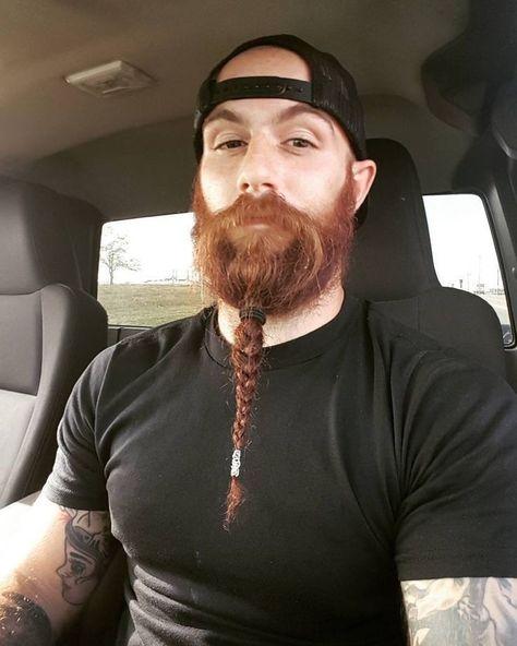 Geflochten kinnbart Bart zopf
