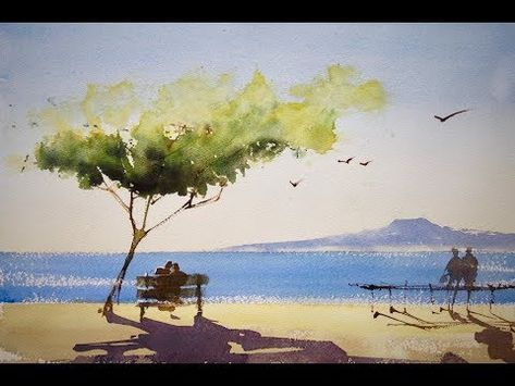That S Easy For Landscape Watercolor Painting Youtube