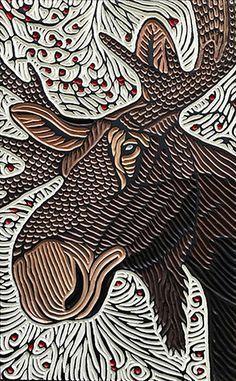 Lino Art, Woodcut Art, Linocut Prints, Art And Illustration, Intaglio Printmaking, Tampons, Bird Prints, Art Plastique, Woodblock Print
