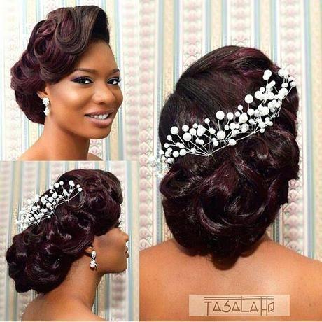 Afroamerikanerhochzeitsfrisuren Neueste Haar Pin Coiffure De Mariage Avec Voile Coiffure Nuptiale Idee Coiffure Mariage