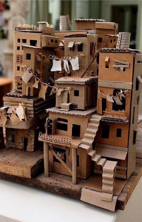 Diy Discover Ma petite semaine Web - semaine - Chez Plouf - Papier Origami Schachteln - Welcome Haar Design Cardboard Sculpture Cardboard Crafts Paper Crafts Cardboard Houses Cardboard Model Miniature Crafts Miniature Houses Art Carton Slums