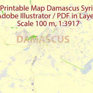 Damascus Printable PDF Map. Syria, exact vector City Plan ... on baghdad map, amman jordan map, tel aviv, arabian sea map, golan heights map, bashar al-assad, rome italy map, damascus citadel, tunis tunisia map, pakistan map, world map, beirut lebanon map, ancient damascus map, asma al-assad, tripoli lebanon map, mid east map, middle east map, jerusalem map, damascus oregon map, kabul afghanistan map, istanbul map, algiers algeria map, bahrain map, damascus steel,