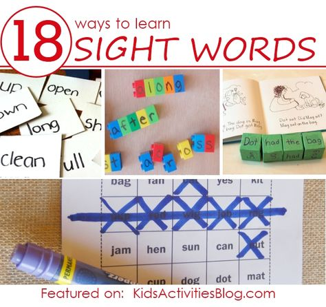 18 FUN ways to learn sight words for kids - get playing & learning