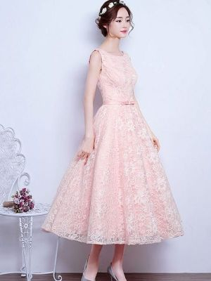 6733df01db9f Vinfemass Vintage Sleeveless Lace Belted Party Skater Dress
