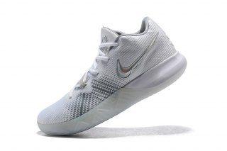 new style 7ea14 ffa2b Cheapest Nike Kyrie Flytrap EP White Metallic Silver AJ1935 100 Kyrie  Irving Men s Basketball Shoes