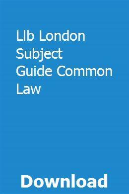 Llb London Subject Guide Common Law   dispdustpoti   Torts