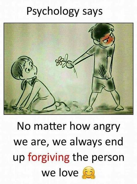 Positive Quotes : We always end up forgiving the person we love..