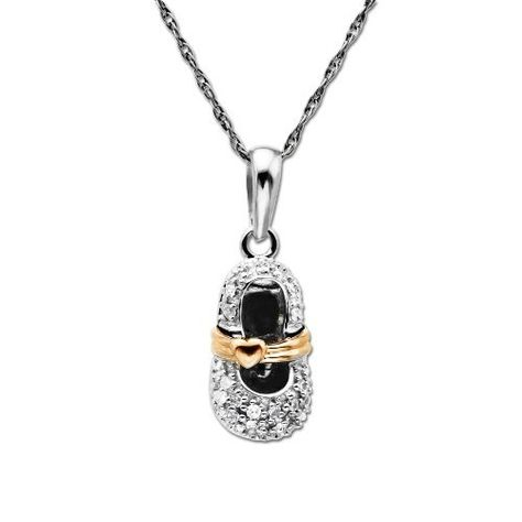 DiamondJewelryNY Silver Pendant 5 Clear Cz Triangles Necklace