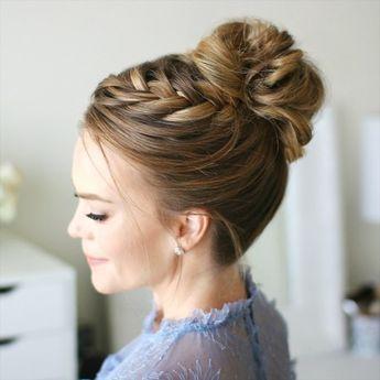 French Braid High Bun Tutorial Long Hair Growth Tips Braids For Long Hair High Bun Hairstyles Braided Hairstyles