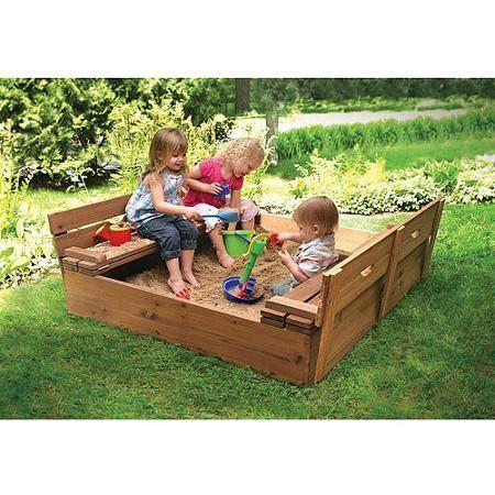 Badger Basket Cedar 4 Rectangular Sandbox With Cover Walmart