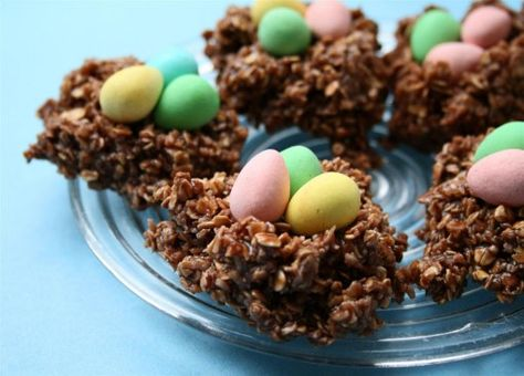Birds Nest Healthier No-Bake cookies