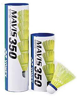 6 New Yonex Nylon Badminton Shuttlecocks Mavis 250 yellow