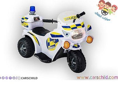 دراجة اطفال شرطة كهربائية Small Cars Toy Car Childcare