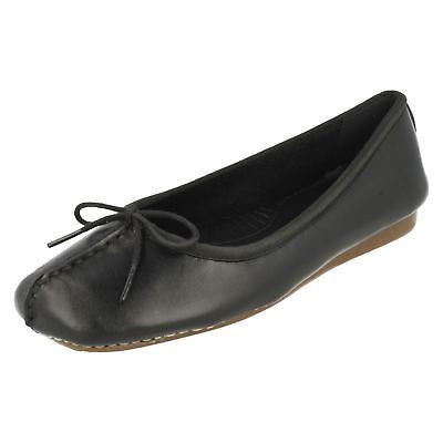 LADIES CLARKS UNSTRUCTURED LEATHER SLIPON BALLERINA FLAT