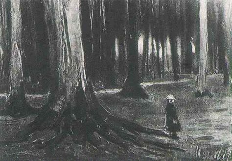 Girl in the Woods - Early works of Vincent