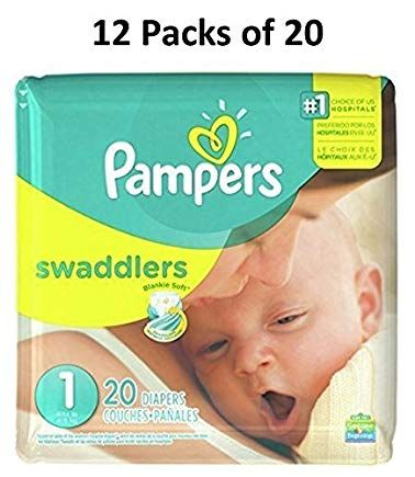 240 diapers Pamper Swaddler Size 1