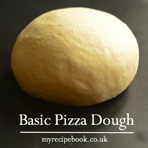 My recipe for basic pizza dough. Easy to make and tastes delicious