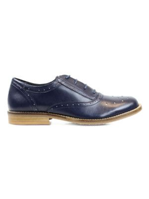 Vegan womens Oxfords in blue by Wills