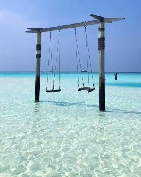 Beach Swing in the Maldives