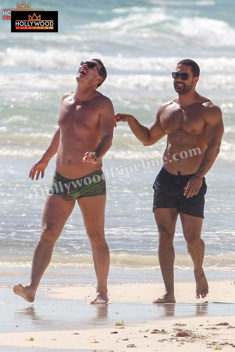 Luke Evans and Victor Turpin Hit the Beach in Mexico