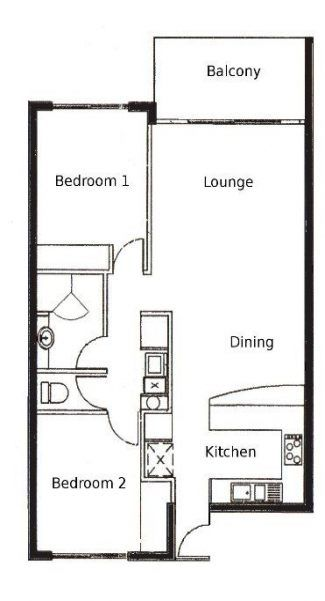 Apartment Floor Plan Small 2 Bedroom 57 Ideas 2 Bedroom Apartment Floor Plan Apartment Floor Plans Apartment Floor Plan