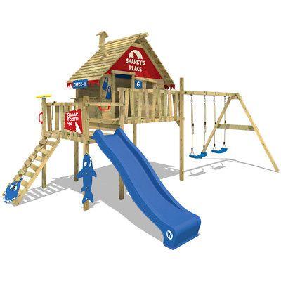 Wickey Spielturm Stelzenhaus Smart Bay Spielhaus Blaue Rutsche Rote Plane Ebay Stelzenhaus Wickey Spielturm Stelzenhaus Mit Schaukel