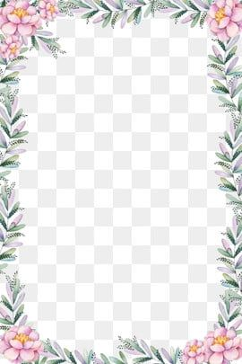 Hand Painted Border Flower Story Border Beautiful Border Elegant Border Atmospheric Border Pink Beautiful Border Png Transparent Clipart Image And Psd File F Watercolor Flower Background Flower Clipart Hd Flowers