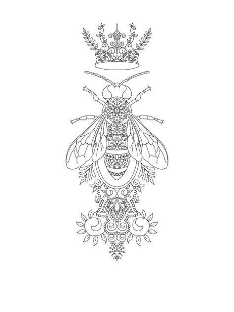 Queen Bee tattoo design by Vixy-Art