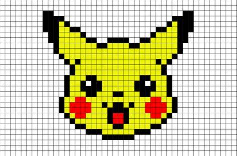 Pikachu Head Pixel Art Anime Pixel Art Pixel Art Pixel